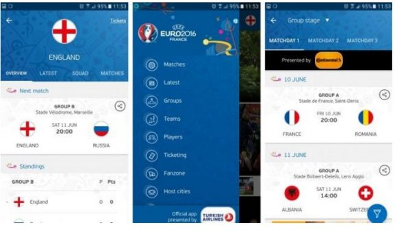 UEFA Euro 2016 Resmi Uygulaması