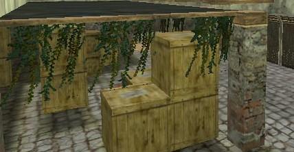 Sarmaşıklar, kutular falan güzel bir havası var :)