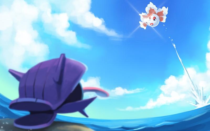 Goldeen'in amansızca saldırmak üzere olduğu, kabuklu Pokemon hangisiydi?