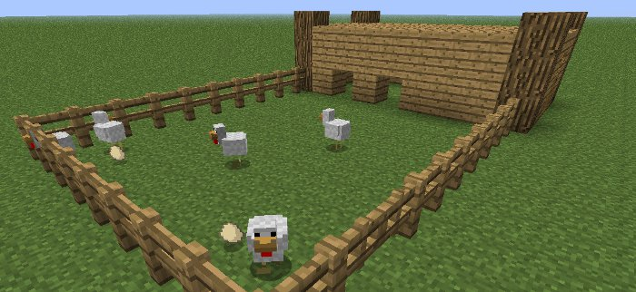 how to build chicken coop mincraft